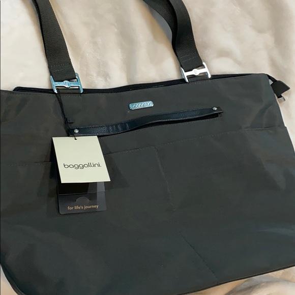 Baggallini Handbags - BAGGALLINI ALL-AROUND TOTE, CHAROAL GRAY. NWT
